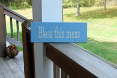 Bless This Mess, Wood Sign, Kitchen Wall Art, Playroom Sign, Religious Wood Sign