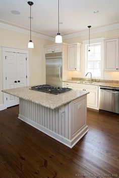 #Kitchen Idea of the Day: Traditional antique white kitchens.