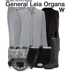 Inspired by Carrie Fisher as General Leia Organa in Star Wars The Force Awakens. Nerd Outfits, Star Wars Outfits, Disney Bound Outfits, Disney Inspired Outfits, Fandom Outfits, Star Wars Set, Star Wars Costumes, Fandom Fashion, Casual Cosplay