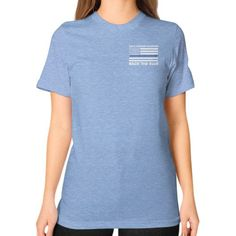 Back the Blue Police Unisex T-Shirt (on woman)