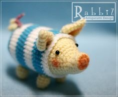 Amigurumi Pig by rabbizdesign, via Flickr