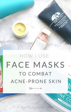 Face masks I use to help combat acne-prone skin and cystic acne. skincare tips,