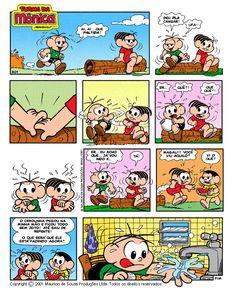 Tirinha da Turma da Mônica Nerd Geek, Anime Naruto, Funny Cute, Comic Strips, Nostalgia, Funny Memes, Geek Stuff, Cartoon, Comics