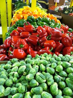 beautiful display of farmer's market vegetables