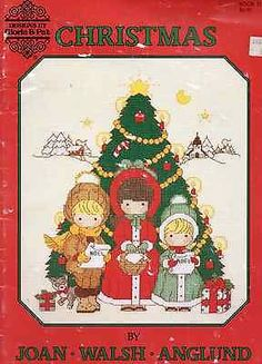 Joan Walsh Anglund Christmas counted cross stitch Gloria & Pat 1987 publication
