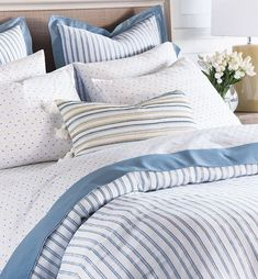 Summer Seersucker Luxury Bedding Collection | Nautical Luxuries