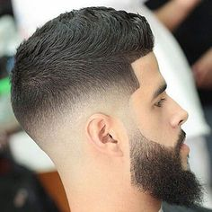 Top Beard Fade Styles - Mid Skin Fade with Line Up and Long Beard Fade Haircut With Beard, Skin Fade With Beard, Medium Fade Haircut, Mid Skin Fade, Beard Haircut, Beard Fade, Thick Beard, Short Beard, Men's Hairstyles