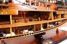 HMS Endeavour 37 Handmade Wood Model Ship by HorizonBlue on Etsy, $629.99
