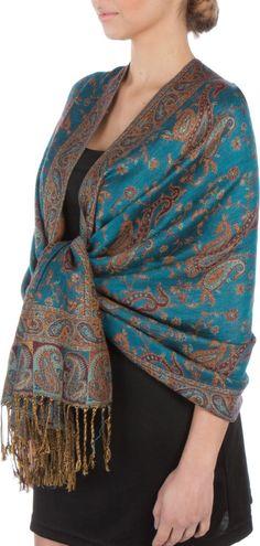 Sakkas Double Layer Jacquard Paisley Pashmina Shawl / Wrap / Stole