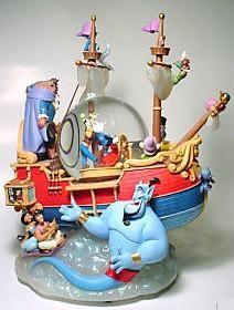 Disney's Aladdin Ship Snow Globe