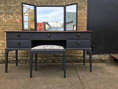 Stag Furniture, Cabinet Furniture, Dark Wood Desk, Refurbishing Furniture, Dressing Table With Stool, Restaurant, Baguette Diamond, Modern Contemporary, Dresser