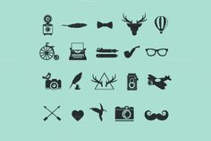 Hipster Icons :: Creative Market