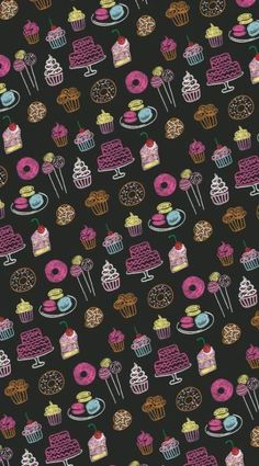 Wall Paper Iphone Cute Prints Hello Kitty 36 New Ideas Baking Wallpaper, Food Wallpaper, Wallpaper For Your Phone, Kawaii Wallpaper, Screen Wallpaper, Flower Wallpaper, Cute Wallpaper Backgrounds, Wallpaper Iphone Cute, Cellphone Wallpaper