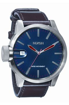 Nixon 'The Chronicle' Leather Watch by nordstrom