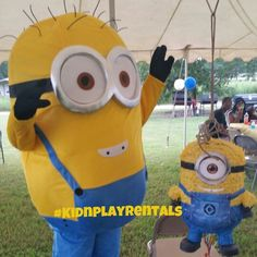 Mascot appearances in Upstate South Carolina. Minion. Dispicable Me. Www.facebook.com/kidnplayrentals