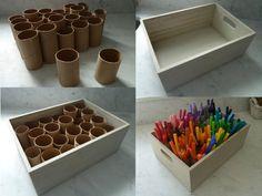 DIY Marker Organizer - Maybe for needles and hooks in my case # . - Organisation im Studio - Welcome Crafts Space Crafts, Arts And Crafts, Rangement Art, Paint Organization, Organization Ideas, Ikea Office Organization, Board Game Organization, Art Studio Organization, Marker Storage