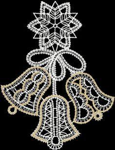 Advanced Embroidery Designs - FSL Battenberg Christmas Bells Lace
