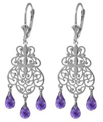 Amethyst Fancy Silver Chandeliers