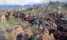 """Artillery Train"" by Franz Roubaud"