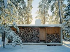 """Arch Ralph Erskine.  """"the box"""" Now at the Stockholm County Museum, which offers tours of the tiny house."""