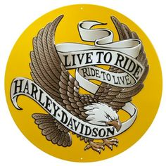 Harley-Davidson® Live To Ride Metal Sign * You can get additional details at the image link-affiliate link. #DecorativeAccessories