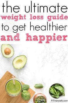 The Ultimate Weight Loss Guide Weight Loss Drinks, Weight Loss Diet Plan, Weight Loss For Women, Easy Weight Loss, How To Lose Weight Fast, Losing Weight, Healthy Foods To Eat, Get Healthy, Healthy Life