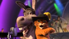 Donkey and Puss in Boots - Livin' La Vida Loca. Great video for a brain break for your kids.