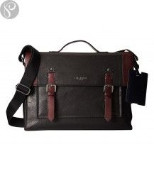 13e62cc8a Ted Baker Kantoo Tonal Leather Satchel Bag  briefcase  merlot  red  black