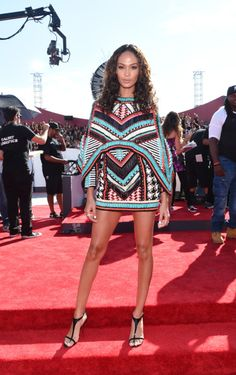 Joan Smalls in Balmain at the VMA Awards 2014 http://www.graziadaily.co.uk/fashion/news/2014-vmas--see-all-the-best--and-worst--dressed-stars