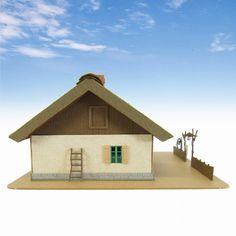 Studio Ghibli 'Spirited Away' - Zeniba's House and Nankai Railway (Paper Craft Kit)