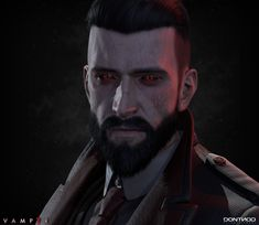 I am glad to share some of characters I made for the game Vampyr (Dontnod) Here is Jonathan Reid, the main character of the game If you want to see more characters of this game, you should check the work of Gabriel Lemaire Juegos Ps2, Vampire Stories, Vampires And Werewolves, World Of Darkness, Game Concept Art, Dark Fantasy Art, Video Game Art, The Vamps, Game Character
