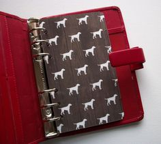 'Dog Days' dog-themed Personal size Laminated Dividers. Fits #filofax #paperchase