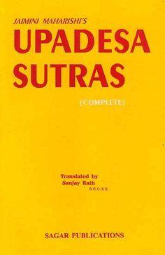 Jaimini Maharishi's Upadesa Sutras translated by Sanjay Rath Books, Libros, Book, Book Illustrations, Libri