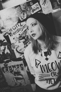 Model: Kes von Puch | www.facebook.com/vonpuch  Photo: Floh Poschenrieder | Vanity-Art-Photography | www.vanity-art-photography.de   Location: Cord Club Munich   #model #shooting #alternativemodel #beanie #blackandwhite