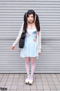 Cute Cat Dress in Harajuku