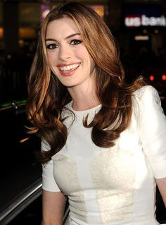Anne Hathaway, love the color and the natural looking waves