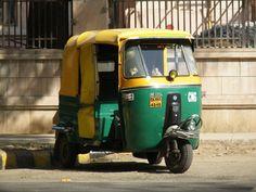 Auto rickshaw na Índia (Foto: Matheus Pinheiro de Oliveira e Silva)