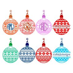 Aztec Christmas Bulb Svg Cuttable Designs
