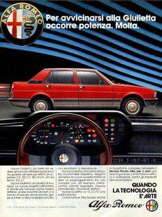 Tia87 Pubblicità Advertising Werbung 1983 Alfa Romeo Giulietta