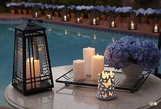 #PartyLite Flutter Candle Sleeve at dusk