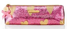 Victoria's Secret Sparkly Heart Makeup Bags