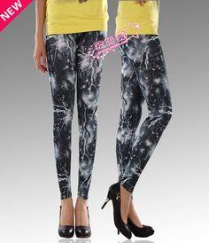 Fashion Pants for women new printing pattern slim tights $9.58