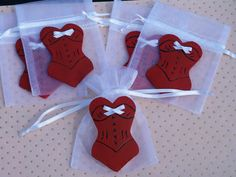 Corset favor bags 10 pieces by FavorsByGirlybows on Etsy,