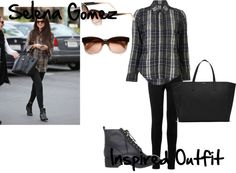 """""""Selena Gomez Inspired Outfit"""" by lotsoflove ❤ liked on Polyvore"""