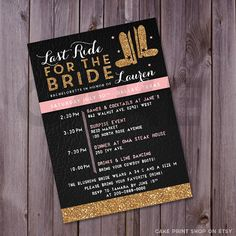 Last ride for the bride #Bachelorette invitation by CakePrintShop - Great reviews & quick turnaround time!