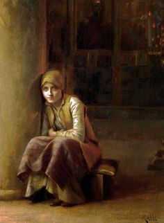 Theodoros Ralli Greek painter, school of French Academy. - A Pensive Moment School Painting, Greek Art, Lausanne, Old Master, Large Art, Impressionist, Art For Sale, Modern Art, Old Things