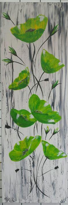 """Artiste : RAFFIN CHRISTINE  """"L'espérance""""  Peinture acrylique sur toile   120x40 Fb : L'étoile de chris"""