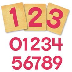 Block Alphabet, Number Set - 1 1/4 Inch