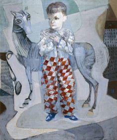 """""""Retrato de João Cândido com Cavalo"""" - Cândido Portinari (1941)"""