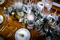 Woodsy Winter Wedding Tablescape Inspiration| Photo by: The Story Telling Experience